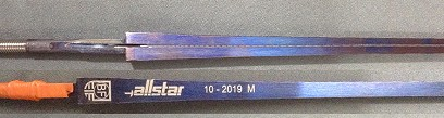 Uhlmann Allstar Blaise FreresBF blue FIE foil blade wired with German Point